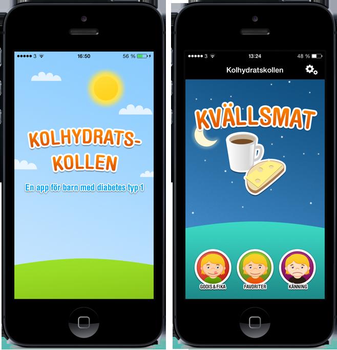 räkna kolhydrater diabetes app
